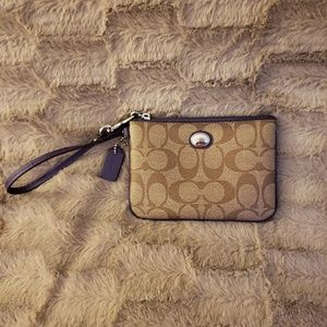 Coach Signature PVC Small Wristlet